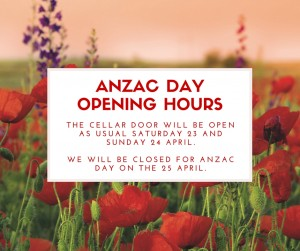 ANZAC DAY OPENING HOURS
